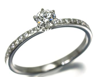 NIWAKA 俄(ニワカ) 『結』 リング ダイヤモンド 0.223ct F SI1 3EX HC Pt950