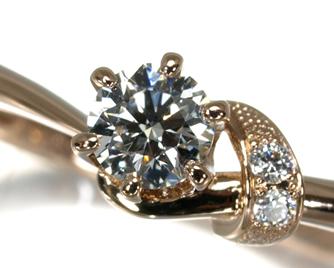 NIWAKA 俄(ニワカ) 『茜』 リング ダイヤ ダイヤモンド 0.226ct G VS2 3EX HC K18PG