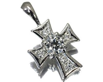 NIWAKA 俄(ニワカ)  ダイヤモンド 0.20ct クロス ペンダントトップ K18WG