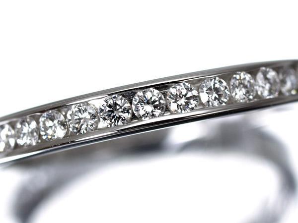 ハリーウィンストン ダイヤモンド エタニティ Pt950 リング 2.5mm幅