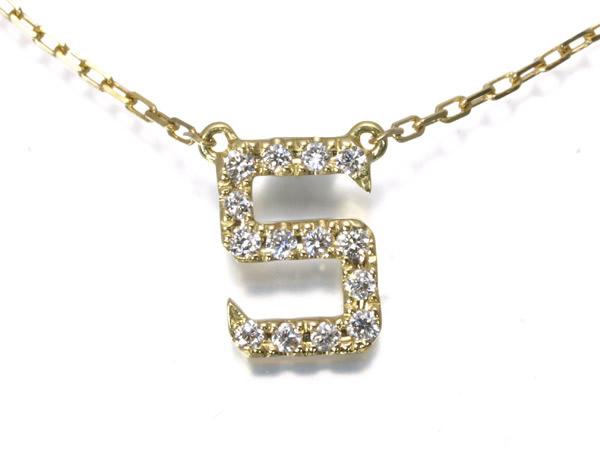 アーカー ダイヤ イニシャル S K18 ネックレス