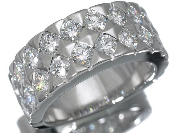 ブシュロン ディアマン K18 ワイド ダイヤモンド リング