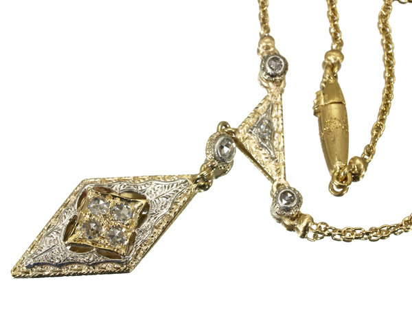 フェデリコ ブチェラッティ ローズカットダイヤ ネックレス K18YG