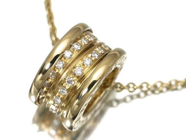 ブルガリ B-zero1 ビーゼロワン K18YG ダイヤモンド ネックレス