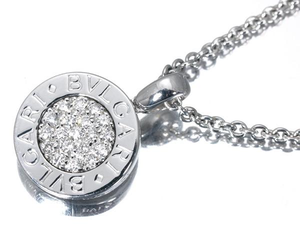 ブルガリ ブルガリブルガリ ダイヤモンド パヴェ K18WG ネックレス