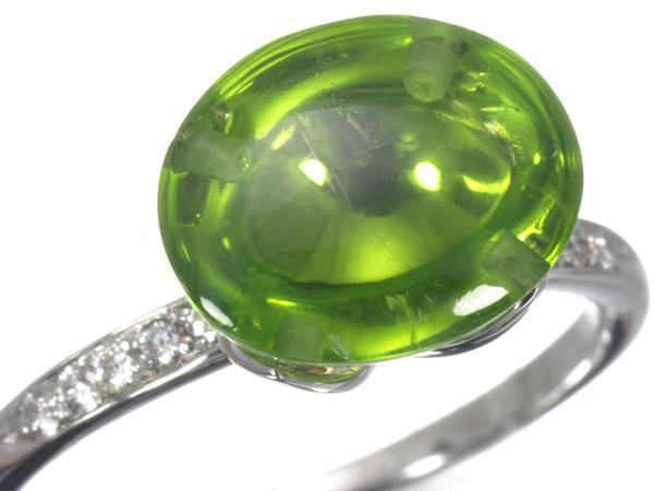 フレッド ペリドット ダイヤモンド K18 リング