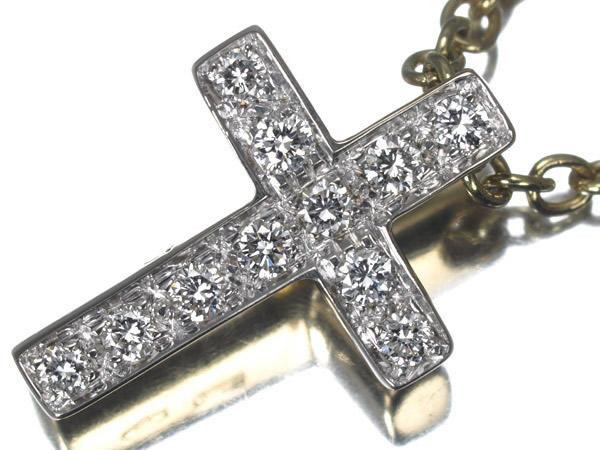 ポメラート クロス ダイヤモンド K18 ネックレス