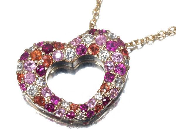 ポンテヴェキオ エテルノ ルビー サファイア ダイヤモンド K18 ネックレス