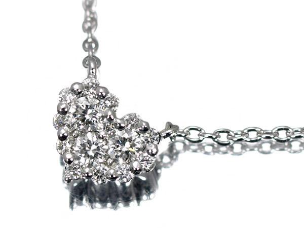 ポンテヴェキオ ダイヤモンド ハート K18 ネックレス