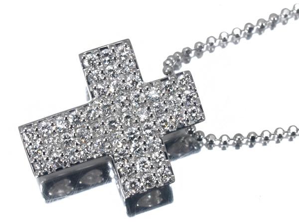 ポンテヴェキオ ダイヤモンド クロス K18 ネックレス