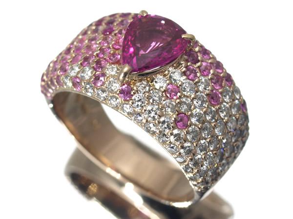ポンテヴェキオ サファイア ダイヤモンド リング K18PG
