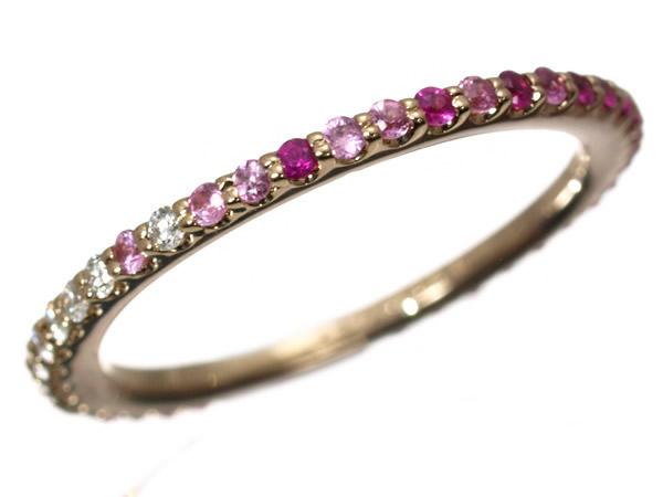 ポンテヴェキオ ダイヤモンド サファイア カリーナ リング K18PG
