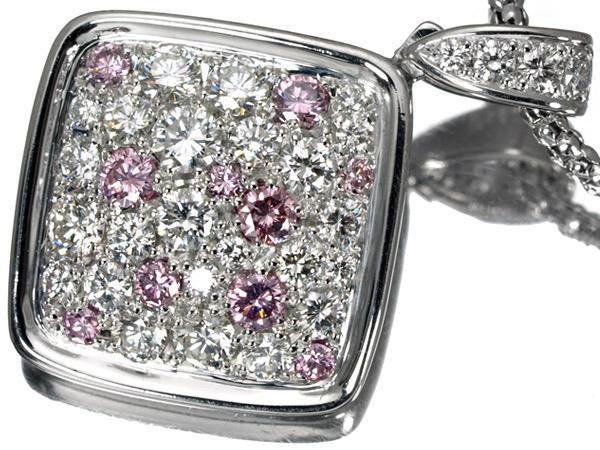 モニッケンダム ダイヤモンド ピンクダイヤモンド 1.45ct プラチナ ネックレス