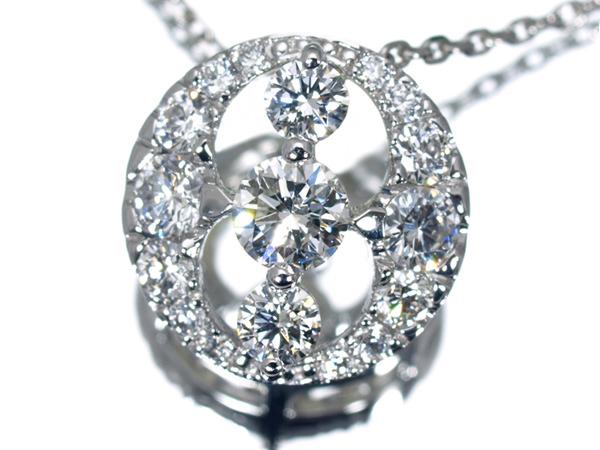 モニッケンダム ダイヤモンド 0.85ct プラチナ ネックレス