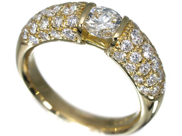 モニッケンダム ダイヤモンド 0.54ct&0.94ct K18 リング
