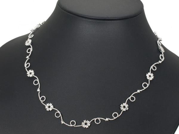 モニッケンダム ダイヤモンド 2.65ct Pt850/900 ネックレス