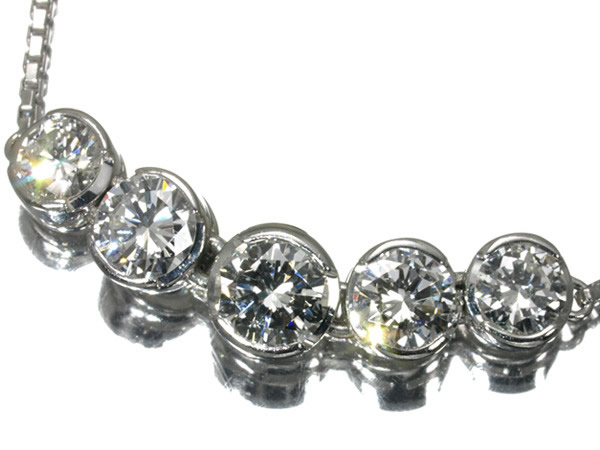 モニッケンダム ダイヤモンド 1.02ct ネックレス Pt850/Pt900