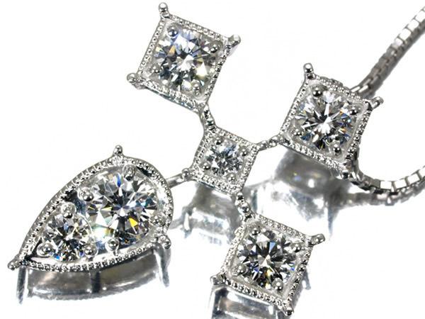 モニッケンダム ダイヤモンド 1.05ctクロス ネックレス K18WG
