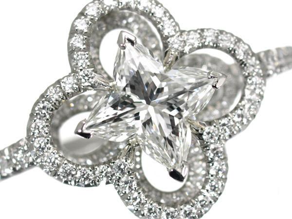 ルイヴィトン ダイヤモンド 1.02ct バーグアルダント プラチナ リング