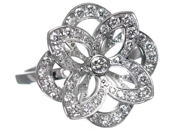 ルイヴィトン フラワー モノグラム ダイヤモンド K18 リング
