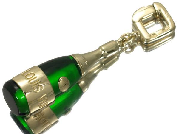 ルイヴィトン ボトル チャーム ペンダントトップ K18YG ガラス