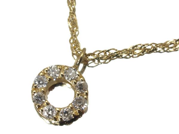 アガット ダイヤモンド ネックレス K18YG