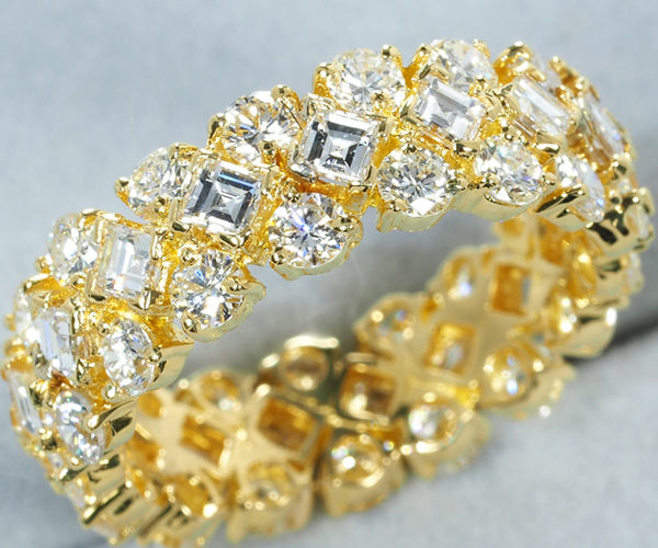 ハリーウィンストン リング ダイヤモンド フレキシブル 10号 K18YG