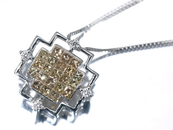 笠原真寿美さん(レ・エッセンシャル) ブラウンダイヤモンド K18 ネックレス