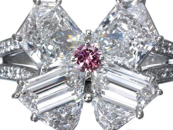 梶光夫さん ダイヤモンド ピンクダイヤモンド 3.3ct プラチナ リング
