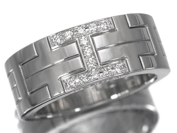 エルメス キリム ワイド K18 ダイヤモンド リング