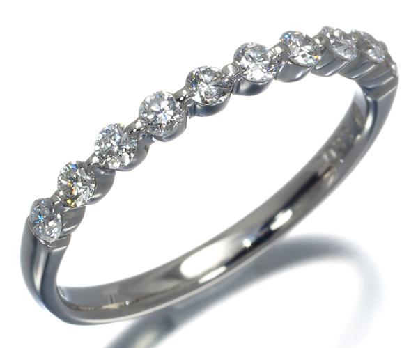 ヴァンドーム リング ダイヤモンド 0.33ct ハーフエタニティ 11号 Pt950