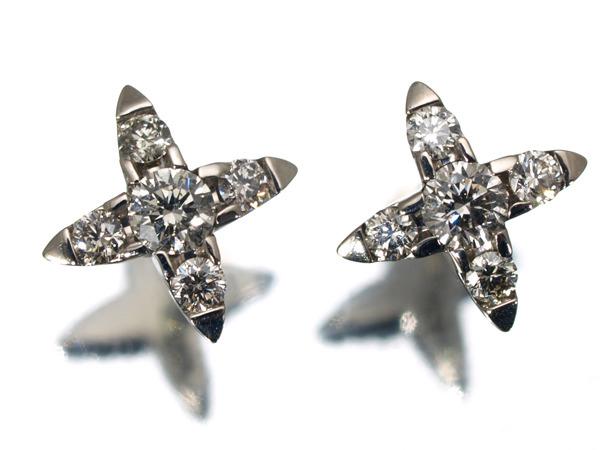 カシケイ ネイキッド ダイヤモンド 0.23ct K18 ピアス