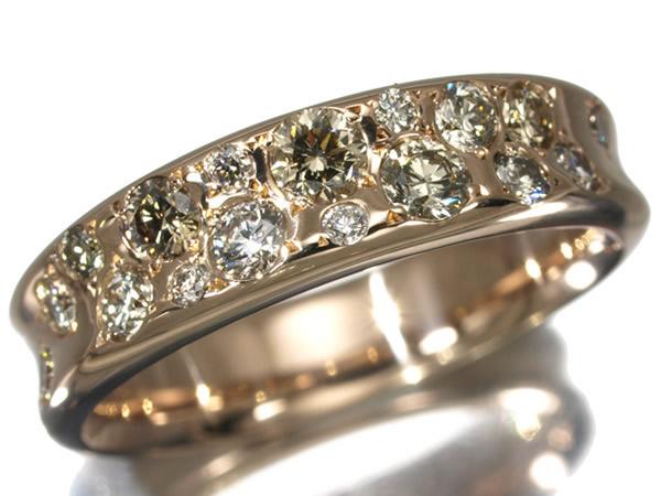カシケイ ダイヤモンド 0.60ct メランジェ リング K18