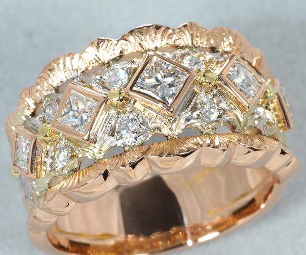 カッツァニーガ リング ダイヤモンド 14.5号 K18YG/WG/PG
