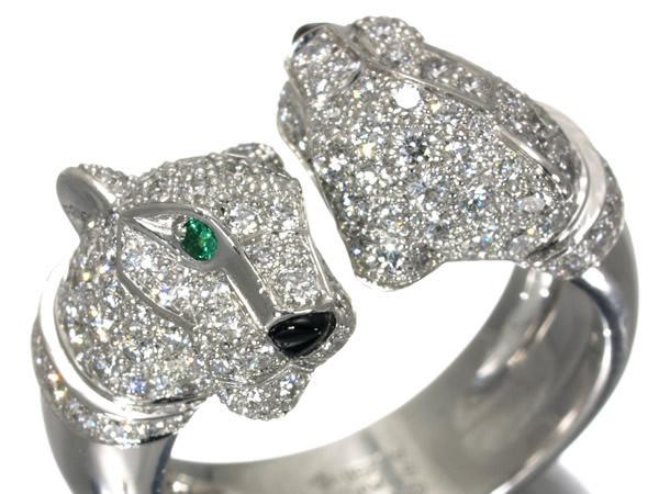 カルティエ(Cartier) パンテール ドゥ カルティエ リング ダイヤモンド K18WG 51号