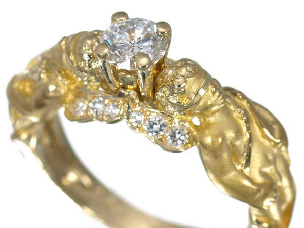 カレライカレラ K18 0.3ct ダイヤモンド リング