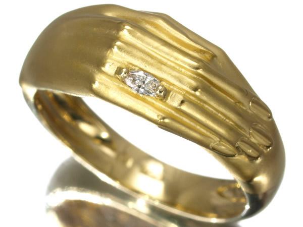 カレライカレラ ダイヤモンド ハンドデザイン リング K18
