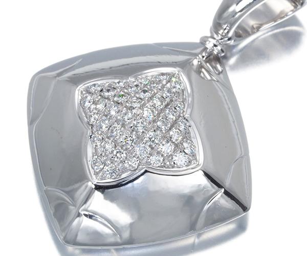 ブルガリ ペンダントトップ ダイヤモンド ピラミデ パヴェ K18WG