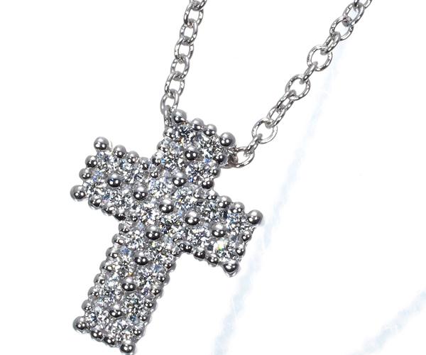 ダミアーニ ネックレス ダイヤモンド クロス K18WG