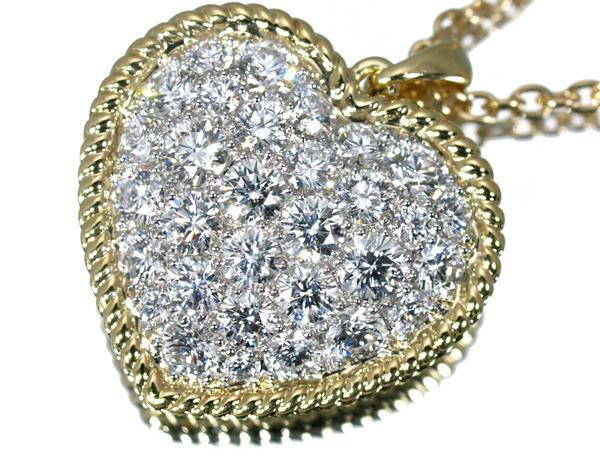 ギメル ハート パヴェ ダイヤモンド 1.16ct ネックレス