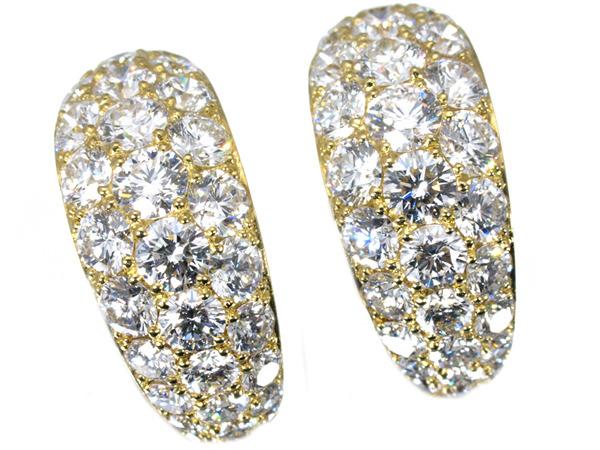 ギメル ラージパヴェ ダイヤモンド 3ct ピアス
