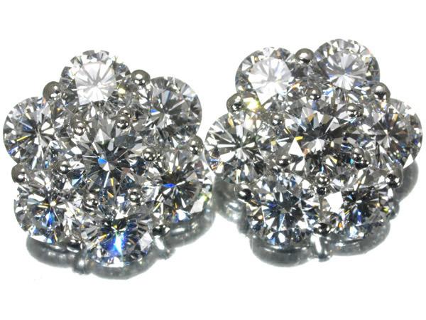 ギメル ダイヤモンド 1.541ct × 2 ピアス Pt950