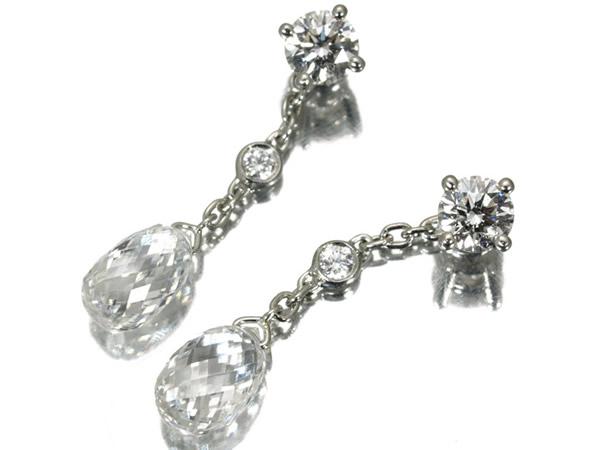 ギメル 2種ダイヤモンド 1.60ctピアス Pt950