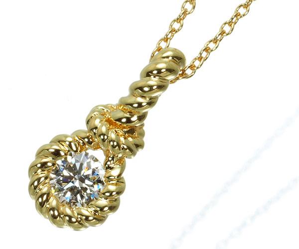 フォーエバーマーク ネックレス ダイヤモンド 0.22ct G VS2 EX エンコルディア