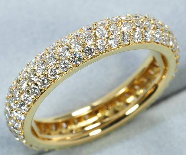 ポンテヴェキオ リング ダイヤモンド 1.28ct フルパヴェ K18YG