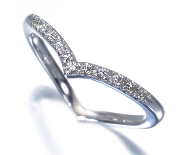 スタージュエリー ピンキーリング ダイヤモンド 0.04ct 1号 K18WG
