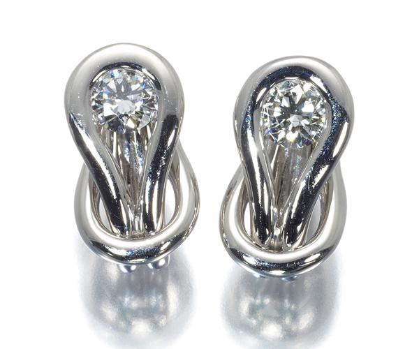 フォーエバーマーク ピアス ダイヤモンド 0.18ct/0.18ct エンコルディア Pt900