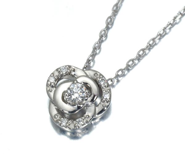 ヴァンドーム ネックレス ダイヤモンド フラワー Pt950/Pt850