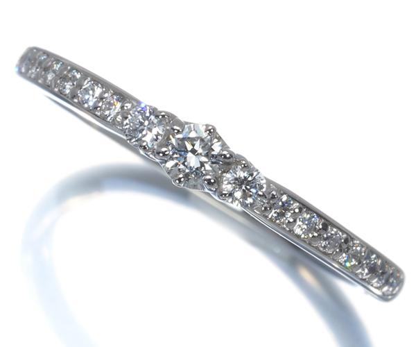 ポンテヴェキオ リング ダイヤモンド 0.20ct ハーフエタニティ 11号 Pt999