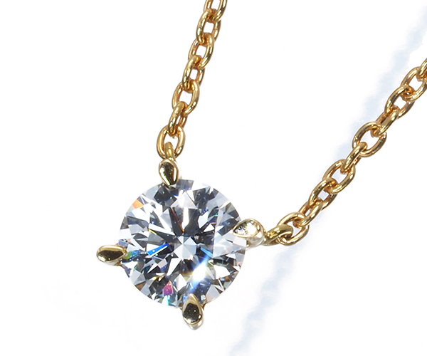 スタージュエリー ネックレス ダイヤモンド 0.25ct 一粒 K18YG